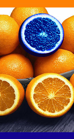 Blue Orange, standing out