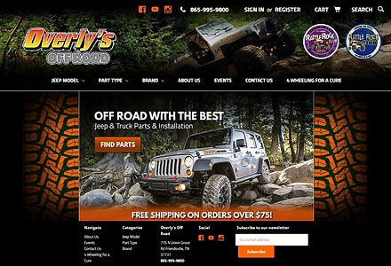 Jeep Parts Ecommerce and Local Auto Repair