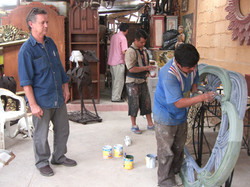 working with traditional craftsmen