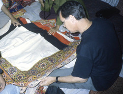 2001 studying textiles in Bhuj, near the Pakistan border in 2001 a week before it was devasted by an
