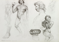 Sketches from the Bargello Museum, Florence