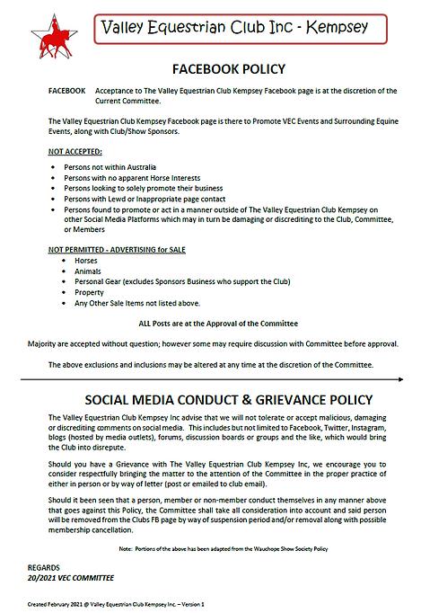 VEC - Social Media - Grievance Policy.PN
