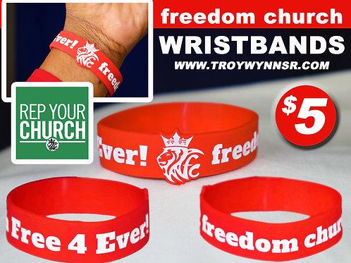 freedom church WRISTBANDS