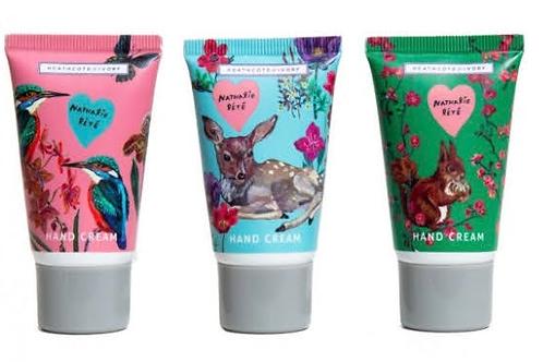 Trio of hand creams