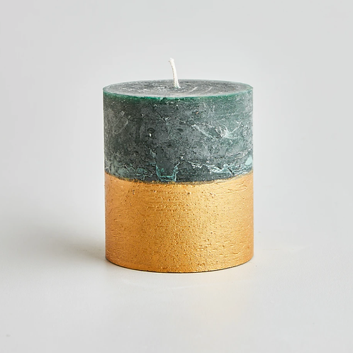 Large half dipped scented candle
