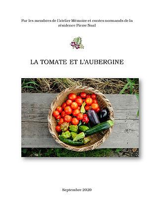 La tomate et l'aubergine - Page de garde