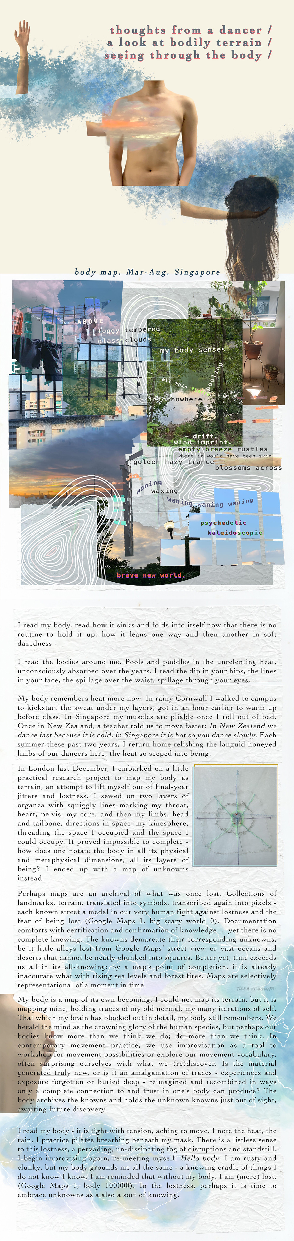 blurb magazine. blurbmag. mapping lostness, thoughts from a dancer. Yixuan Kwek. Arts & Culture. @blurb.mag