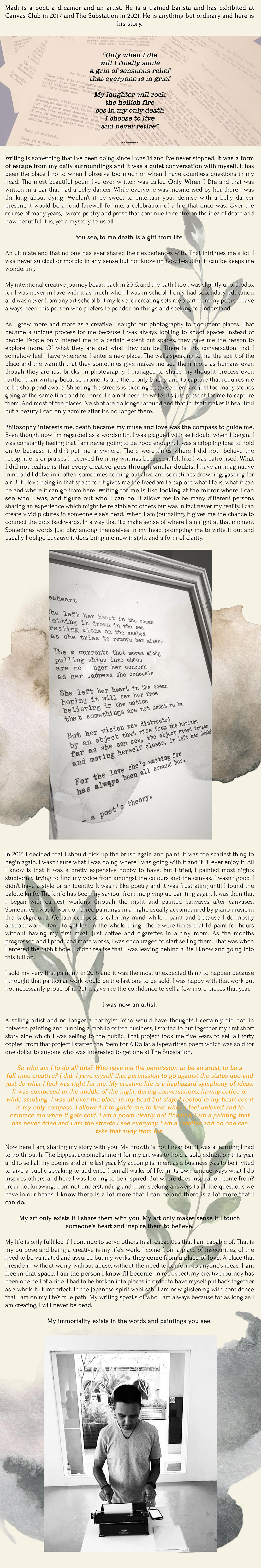 blurb magazine. blurbmag. words by a poet's theory. madi. arts and culture. @blurb.mag
