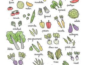 Légumes & fruits de Juillet 🍉