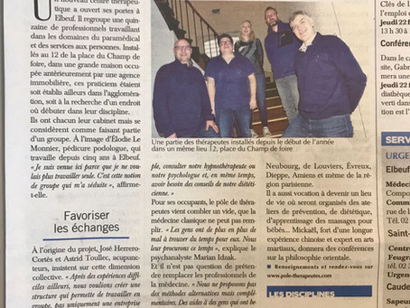 Le Paris-Normandie parle du Pôle !