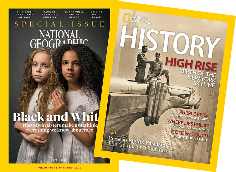 National Geographic Magazine + History Magazine Subscription ( 12 + 6 issues)