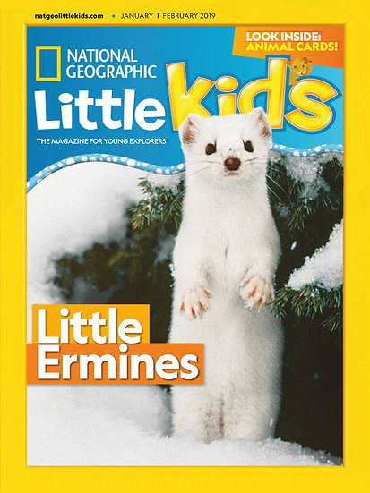 National Geographic Little Kids - 6 Issues W/ FREE Colouring Set (DBS)