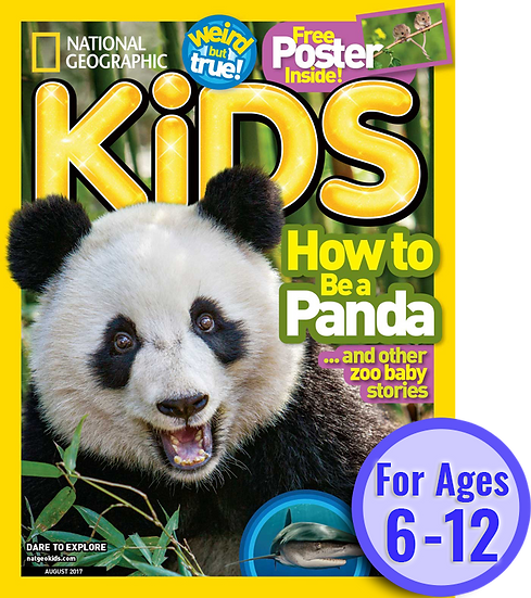 National Geographic Kids (10 Issues) W/ FREE Colouring Set (Kaplan)