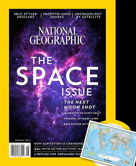NatGeo Magazine w/FREE NatGeo World Map(PAS)