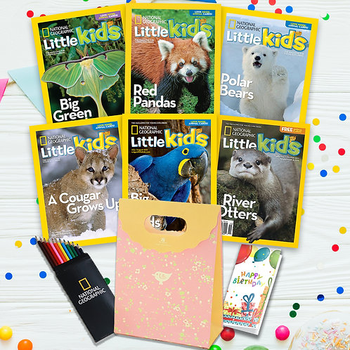 NatGeo LittleKids Gift Set - 6X back dated issues + 1Y subs(6 latest issue)