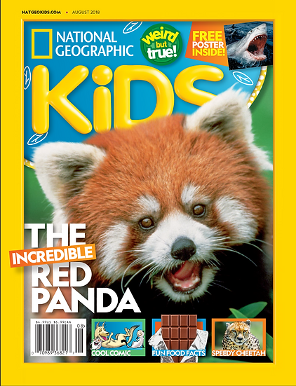 National Geographic Kids W/ FREE Colouring Set (SMRT)