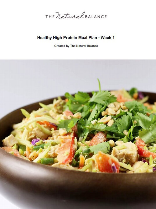 21 Day High Protein, High Energy Meal Plan