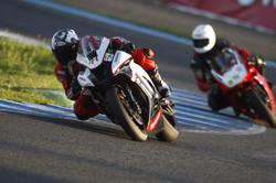 Leading a client at Jerez
