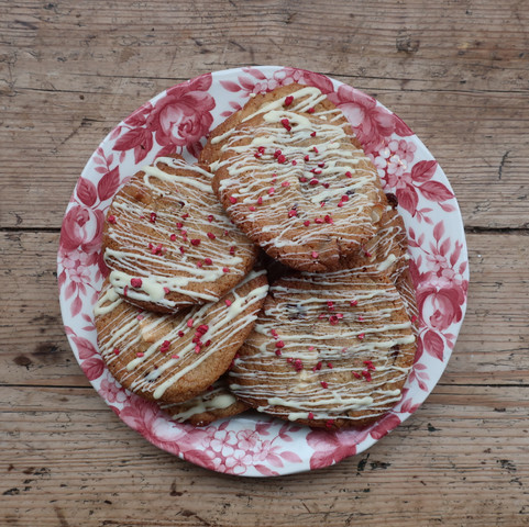 Cranberry, White Chocolate & Macadamia cookies