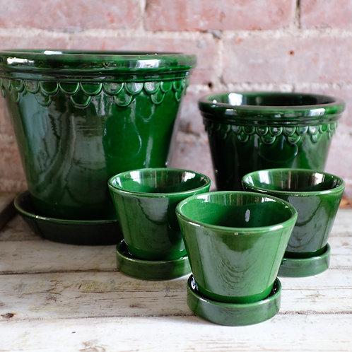 Deep Green Italian Pots