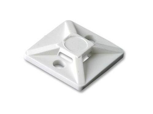 25mm x 25mm White Standard Tie Bases (PKT 100)