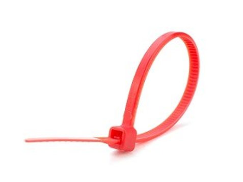 200mm X 4.8mm Red Cable Ties (PKT 100)