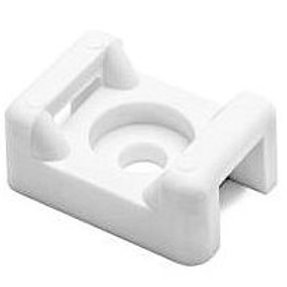 6mm x 9mm White Screw Mount Base with Hole (PKT 100)