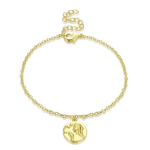 Charm Bracelet in 18K Gold Plated