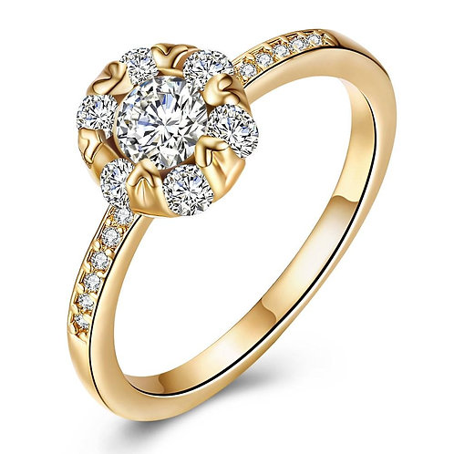 18K Gold Plated Perrie Ring made with Swarovski Crystals