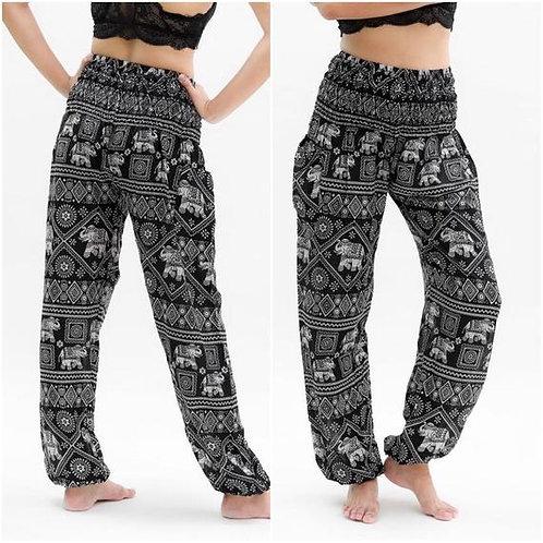 Black ELEPHANT Pants Women Boho Pants Hippie Pants Yoga