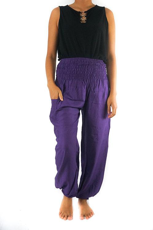 Purple Women Boho Pants Hippie Pants Yoga Pants Harem