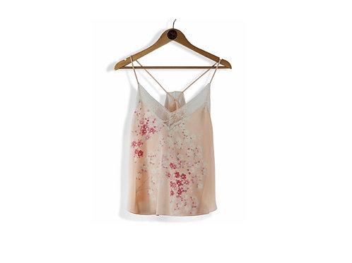 MOTTAINAI Pink Silk Camisole