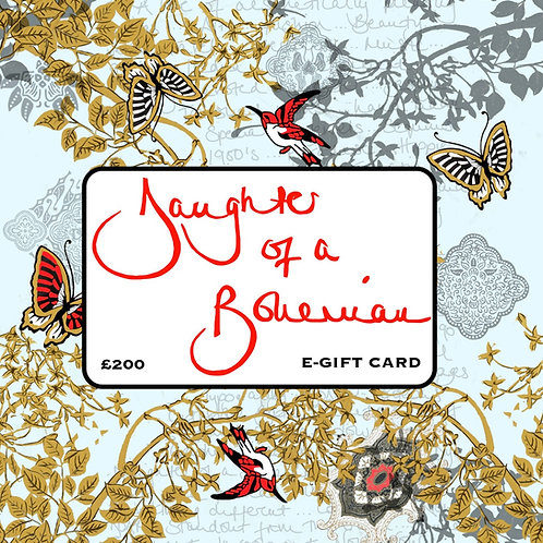 Daughter Of A Bohemian £200 E-Gift Card
