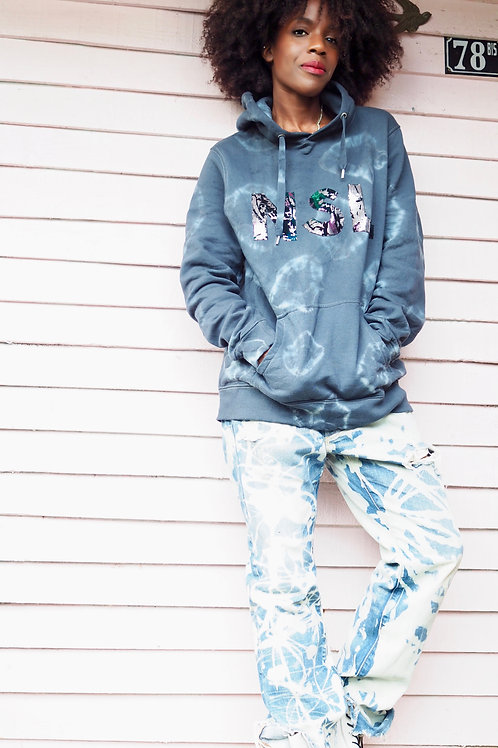Up-cycled Bleached Denim Jeans