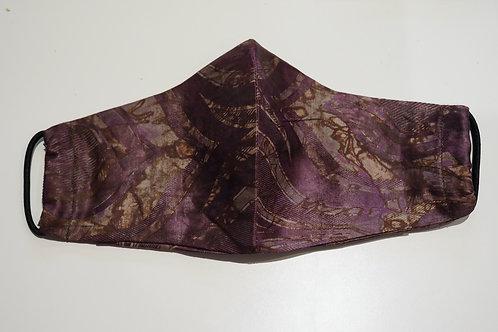 MASUKU Purple Cotton Face Mask - Adults