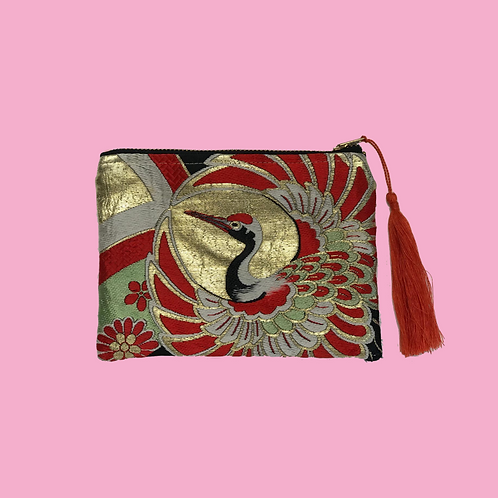 Up-cycled Coin Purse Made From Vintage Japanese Obi Belt