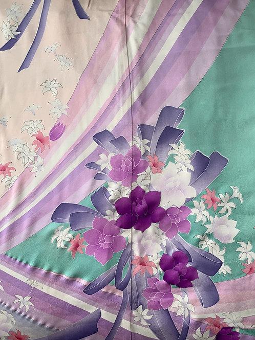 Pastel Hand-painted Silk