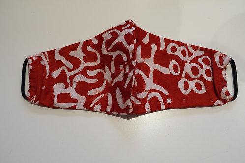 MASUKU Red Cotton Face Mask -Adults