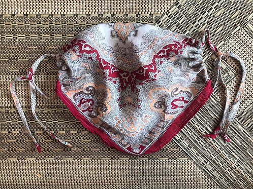 Vintage Up-cycled Paisley Print Face Covering