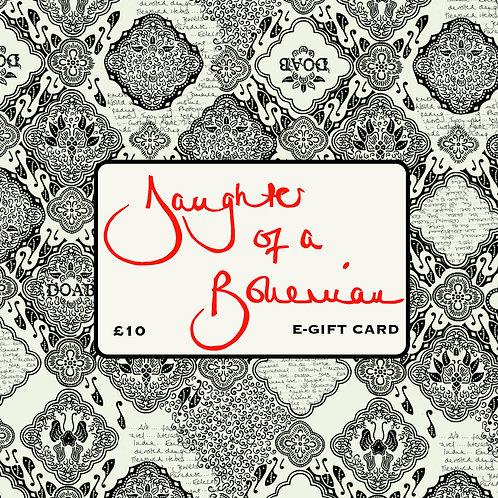 Daughter Of A Bohemian £10 E-Gift Card