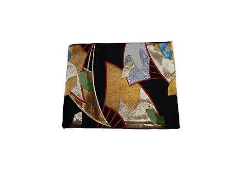 JIYUU Large Black Obi Clutch Bag