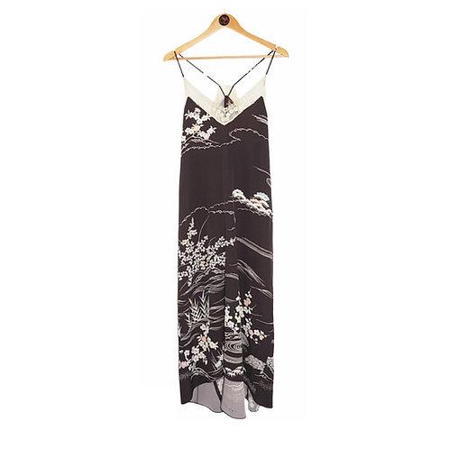 SAI RIYO Kimono Silk Slip Dress