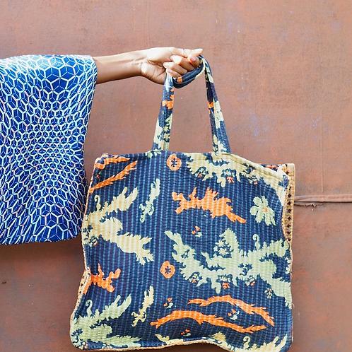 JIYUU Vintage Kantha Tote Bag