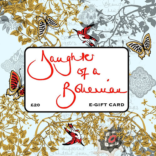 Daughter Of A Bohemian £20 E-Gift Card