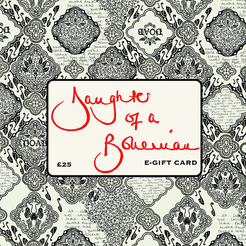 Daughter Of A Bohemian £25 E-Gift Card