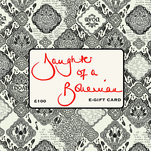 Daughter Of A Bohemian £100 E-Gift Card