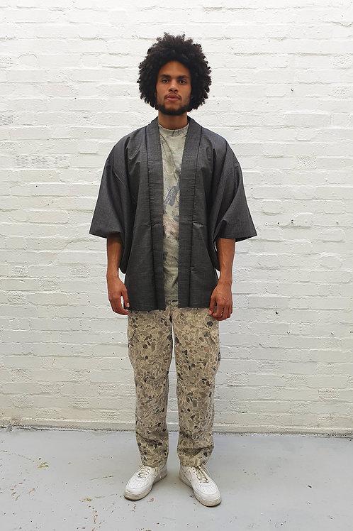 Vintage Unisex Kimono with hand painted mountain scene