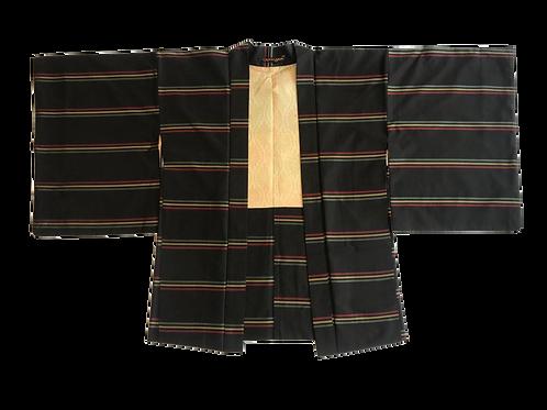 Vintage Unisex Silk Rasta Stripe Kimono