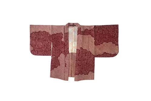HAORI Red Silk Shibori