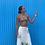 Thumbnail: KATACHI White Embroidered Linen Wrap Skirt